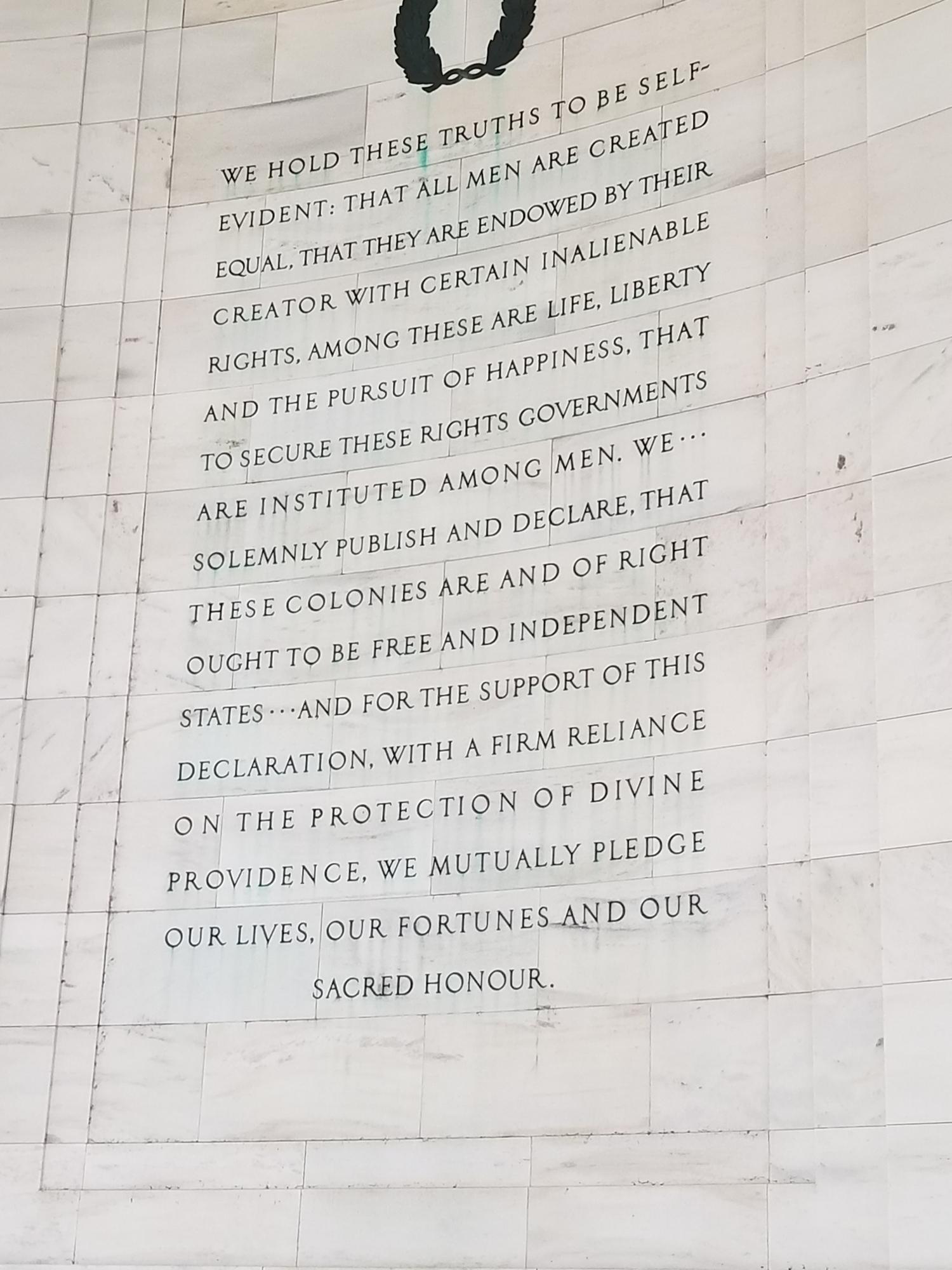 Declaration Wall